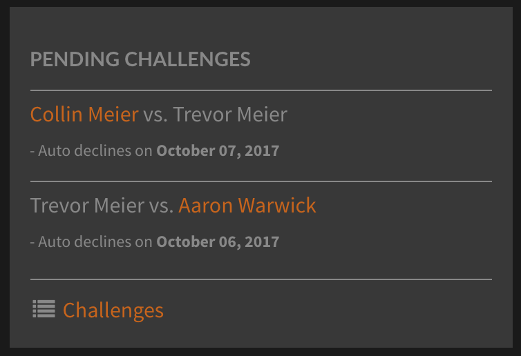 Tennis Ladder Challenge Updates