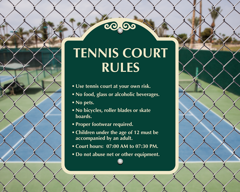 The Unwritten Rules of Tennis