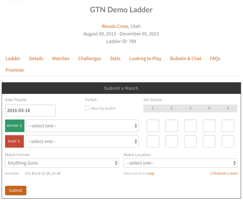 Tennis Ladders The Top Tennis Ladder Software Global